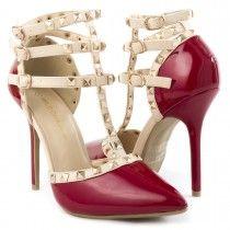Wild Diva Womens 27-ADORA55 Heel Pumps RED