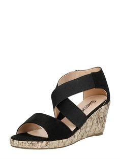 Zomerse sandalen met sleehak en elastiek van Visions