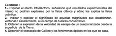 Cuestiones propuestas en el examen PAU de Canarias de Setiembre de 1998, Opción 2.