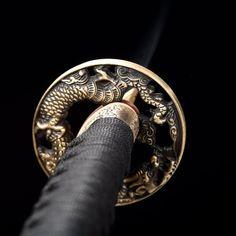 Handmade T10 Carbon Steel Dragon Tsuba Real Hamon Japanese | Etsy Katana Swords, Samurai Swords, Knives And Swords, 1095 Steel, Best Wraps, Tango, Dragon, Japanese, Handmade