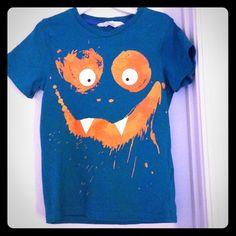 Monster face t shirt Monster face t shirt, good condition H&M Tops Tees - Short Sleeve