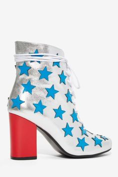Non Blonde Starstruck Leather Boot - Shoes | Party Shop | Ankle