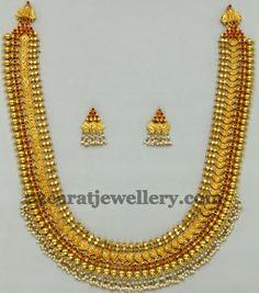 Jewellery Designs: Wide Kasu Mala with Simple Tops