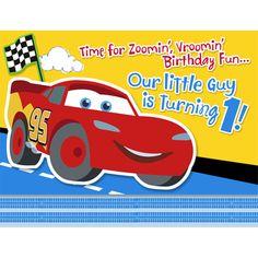 Disney 1st Birthday Cars Invitations