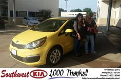 https://flic.kr/p/Hkt8s9 | Congratulations Kimberly on your #Kia #Rio from Ash Chowdhury at Southwest Kia Mesquite! | deliverymaxx.com/DealerReviews.aspx?DealerCode=VNDX