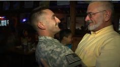 [VIDEO] U.S. Soldier Surprises His Kids and Dad with Father's Day Homecoming  |  Army Specialist Robert Neuterman had been serving in Kuwait and came back early from deployment. With the help of his wife, he managed to keep the homecoming a secret. Not only did Robert get to surprise his children, but he surprised his own dad as well on Father's Day!