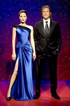 Angelina Jolie Brad Pitt 2013年の設置以来、ロマンチックな星空をバックに仲良く寄り添って立っていた。アンジェリーナとブラッドのろう人形。イギリス・ロンドンの観光名所として親しまれている、ろう人形博物館「マダム・タッソー館」