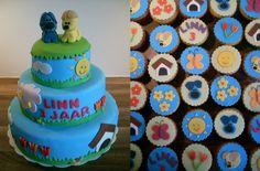 Woezel en Pip taart en cupcakes