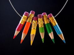 awesome pencil necklace