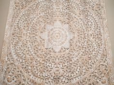 Large decorative carved wooden wall panel. Bring a sense of uniqueness with an original oriental design. Adding luxurious and beautiful decorative