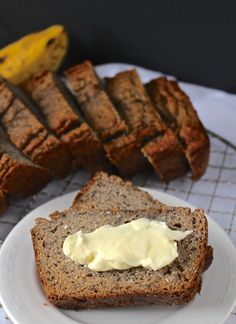 This Paleo Banana Bread is simple- made with only a few ingredients, but tastes incredible! Perfect for breakfast or a healthy sweet treat.