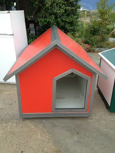 Extreme orange with grey borders. Dog Houses, Shed, Outdoor Structures, Orange, Dog Kennels, Barns, Sheds