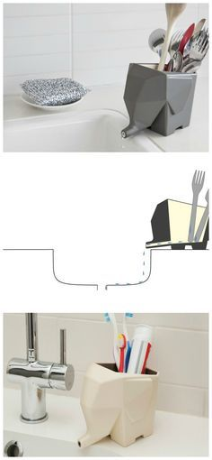 Genius Kitchen Idea! Cutlery drainer! Great kitchen gadget!