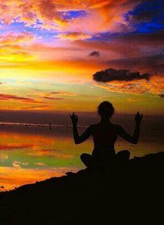 Wow, love the colors of this Indonesian sunset!  Pemenang, Indonesia atGili trawangan island