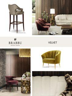 VELVET   The Trendiest Materials For Your Home Decor In 2017   Modern Interior Design. Interior Design Trends. #velvet #homedecor #interiordesign Read more: https://www.brabbu.com/en/inspiration-and-ideas/materials/trendiest-materials-home-decor-2017