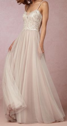 beautiful dress with a beaded lace bodice
