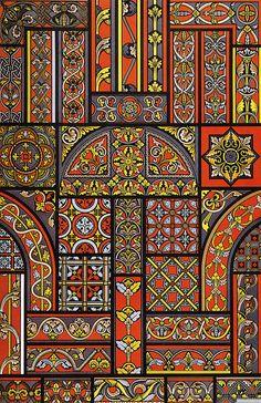 Орнамент Всех Времен и Стилей 1 книга140 Stained Glass Patterns, Tile Patterns, Pattern Art, Print Patterns, Pattern Design, Islamic Tiles, Islamic Art, Islamic Motifs, Mandala Art