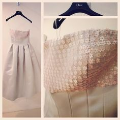 We've been carefully securing the flower sequins on this Dior dress http://instagram.com/p/txrshHMBFw/