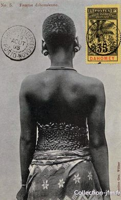 "Africa | ""Femme dahoméenne"" Dahomey/Benin. Post stamped 1908. 