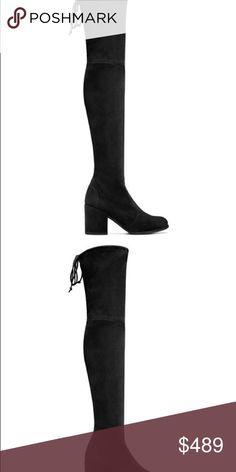 2c0b919e453 Unworn Stuart weitzman Tieland OTK boots. Black. 6 Unworn stuart weitzman  tieland black suede