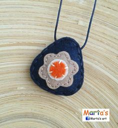 felt necklace