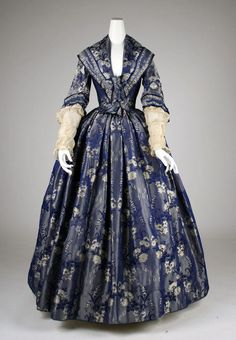 beautiful dress from the 1840s. #dress #fashion #clothing #Victorian #costume #1800s #blue