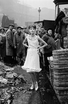 #Fifties | Anna Karina, Les Halles, Paris, 1959