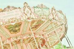 pink, carousel, and vintage εικόνα