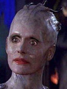 OMG Ha haaa .  Actually as a Borg she looks better .