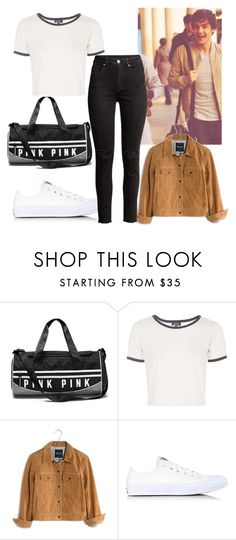 """""""Untitled #416"""" by vickyagh ❤ liked on Polyvore featuring Topshop, Payne, Madewell and Converse"""