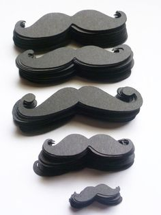 Mustache party Variety Pack 200 pcs 3 inch  by itrhymeswithorange, $20.00