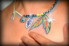 Tribal necklace body paint