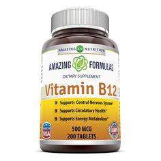 Amazing Formulas Vitamin B12 500 Mcg 200 Tablets *** You can get more details by clicking on the image. (This is an Amazon Affiliate link and I receive a commission for the sales)