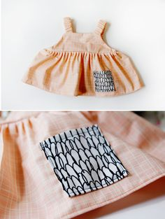 DIY Tutorial DIY Baby Girl Dress / DIY easy baby dress pattern for the summertime - Bead&Cord Baby Dress Pattern Free, Baby Dress Patterns, Baby Clothes Patterns, Diy Clothes Tutorial, Diy Clothes Refashion, Diy Tutorial, Sewing For Kids, Baby Sewing, Dog Dresses