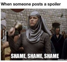 100% agree. Be respectful to other people and please don't post spoilers.