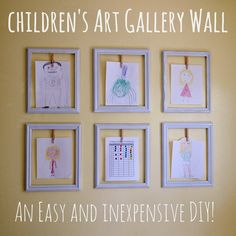 This us SUCH a great way to encourage artistic creativity!! Easy to change out too!