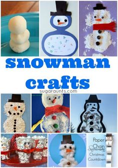 Snowman craft, snacks, art, and activities for kids this winter (scheduled via http://www.tailwindapp.com?utm_source=pinterest&utm_medium=twpin&utm_content=post436245&utm_campaign=scheduler_attribution)