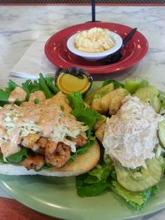 For the Love of Food: Cajun Shrimp PoBoys with Sweet Slaw and Spicy Remoulade