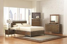 Arcadia 203801 Bedroom in Weathered Acacia by Coaster w/Options