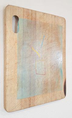 Nathan Suniula, 'Blue residue', acrylic on bread board, 2016