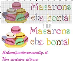 asciugapiatti macarons che bonta schema punto croce gratis