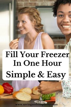 Are you super busy? Do you love easy meals? If you answered yes to any of these I have something for you. Fill your freezer with yummy meals in one hour! Beef Freezer Meals, Freezer Cooking, Frugal Meals, Cooking Tips, Easy Meals, Frugal Recipes, Frugal Tips, Good Food, Yummy Food