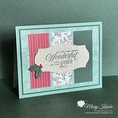 Tidings of Christmas Suite by Stampin' Up! Stampin Up Christmas, Christmas Diy, Christmas Cards, Holiday, Fun Fold Cards, Cute Cards, Birthday Card Pictures, Christmas Trimmings, Poinsettia Cards