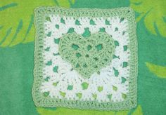 "The Sunroom: Granny Square Flower 4"" Pattern"