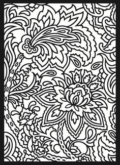 paisley coloring page that would be an interesting embroidery pattern - Cool Patterns To Colour In
