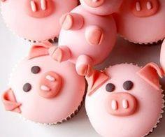 Pig cupcakes!!! Omg