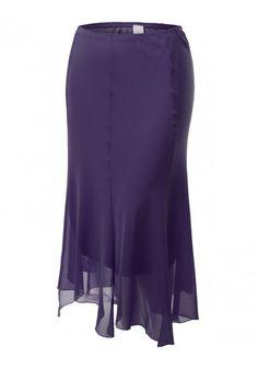 Unbalanced Hemline Skirt #jtomsonplussize