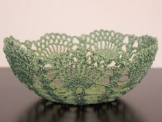 Crochet Lace Bowl - Mint Green