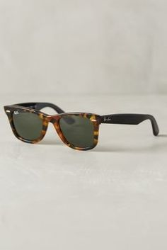 emilyandrus's save of Ray-Ban Original Wayfarer Fleck Sunglasses Black One Size Eyewear on Wanelo
