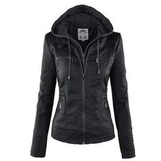 $25.99 Stylish Convertible Collar Long Sleeve Solid Color Zippered Women's Jacket